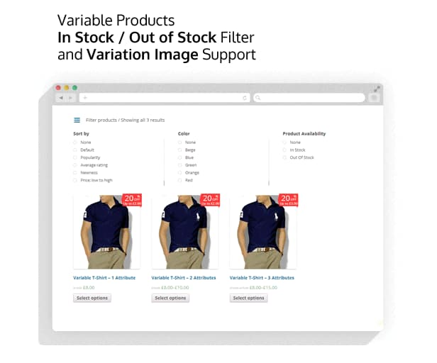 افزونه فیلتر آجاکسی محصولات ووکامرس